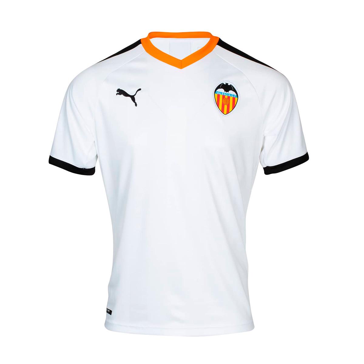 Decir a un lado surco Empleador  Jersey Puma Kids Valencia CF 2019-2020 Home Puma white-Puma black-Vibrant  orange - Football store Fútbol Emotion
