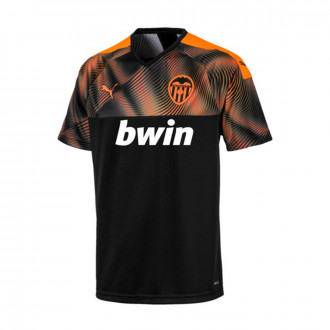 Jersey Puma Valencia CF 2019-2020 Away Puma black-Vibrant orange