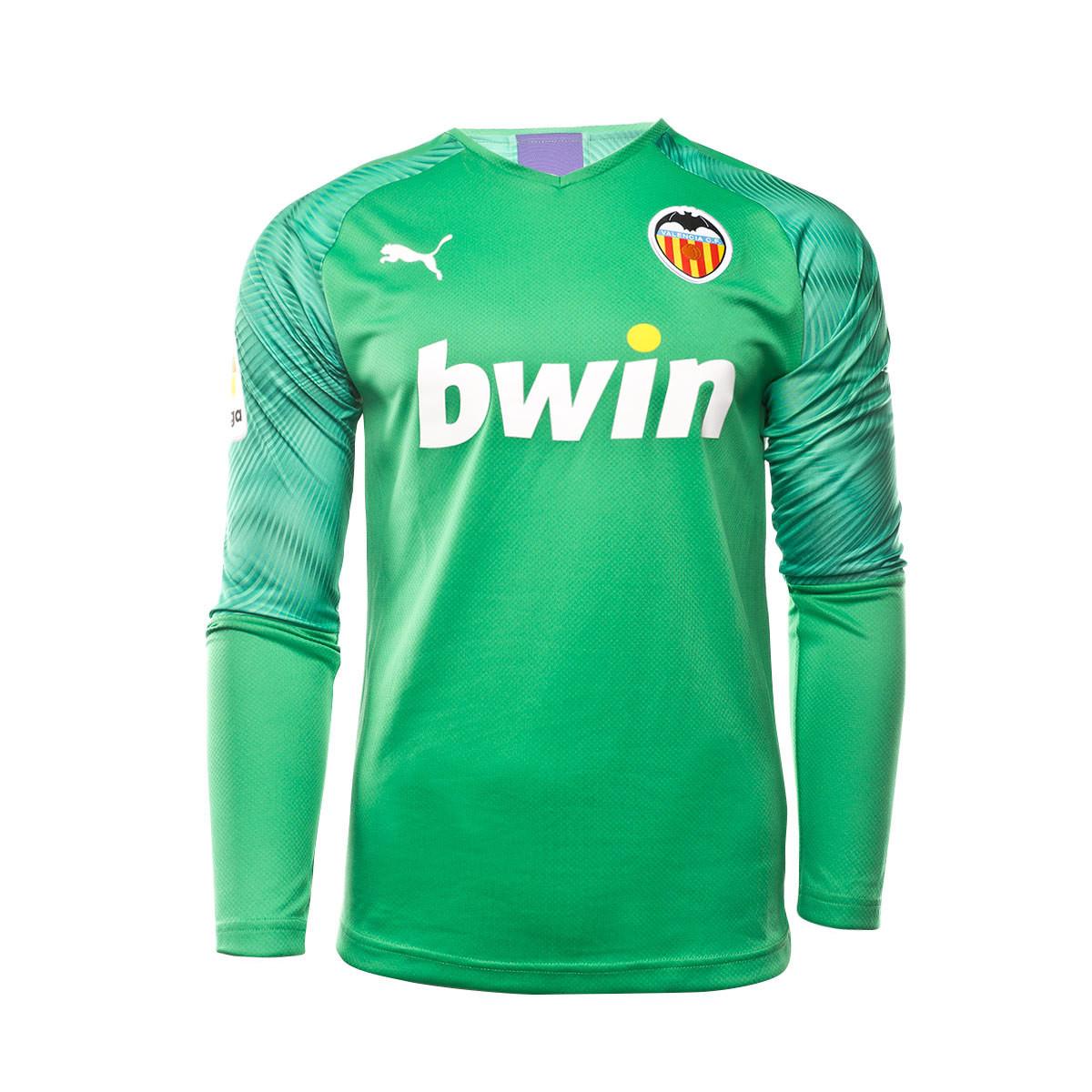 extraterrestre propiedad erosión  Camiseta Puma Valencia CF Primera Equipación Portero 2019-2020 Bright  green-Prism violet - Tienda de fútbol Fútbol Emotion