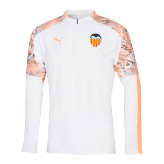 Sudadera Puma Valencia CF Training Top 2019-2020 Puma white-Fizzy orange