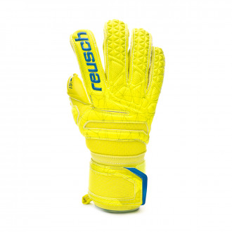 Guante Reusch Fit Control S1 Evolution Finger Support Niño Lime-Safety yellow