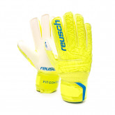 Luvas Fit Control RG Open Cuff Finger Support Criança Lime-Safety yellow
