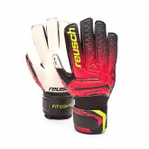 Guante Fit Control RG Open Cuff Finger Support Niño Black-Fire red