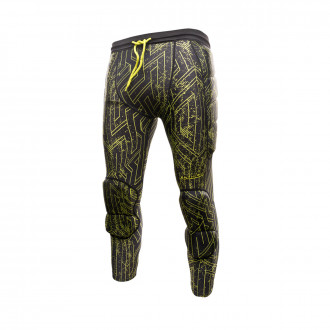Pantaloni 3/4 Reusch 3/4 Soft Padded Black-Lime green