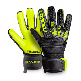 Guanti Reusch Fit Control Freegel SG Hugo Lloris Bambino Black-Lime green