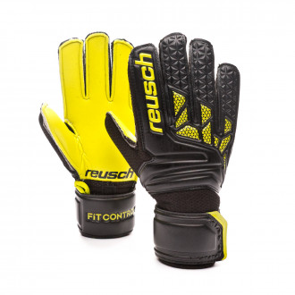 Glove Reusch Kids Fit Control SD Open Cuff Hugo Lloris Black-Lime green