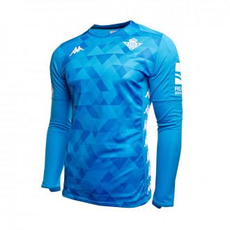 Camiseta Kappa Real Betis Balompié Primera Equipación Portero 2019-2020 Niño Azul