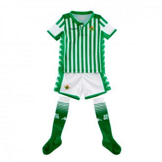 Conjunto  Kappa Real Betis Balompié Primera Equipación 2019-2020 Niño Blanco-Verde