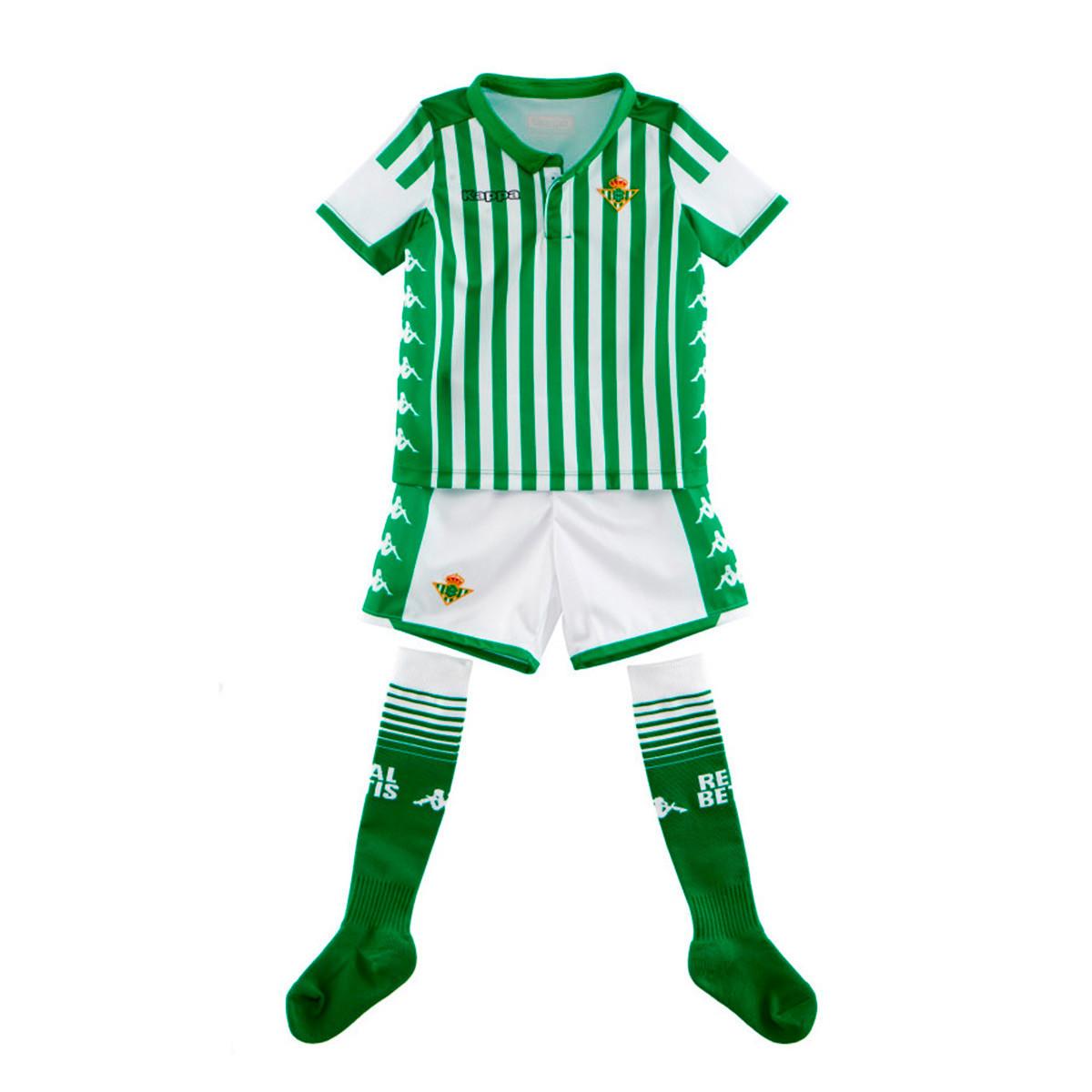 precios increibles presentación varios colores Conjunto Kappa Real Betis Balompié Primera Equipación 2019-2020 Niño