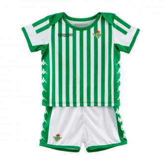 Conjunto  Kappa Real Betis Balompié Primera Equipación 2019-2020 Bebé Blanco-Verde