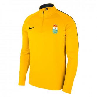 Sweatshirt Nike Academy 18 Drill CD Narón 2019-2020 Tour yellow-Anthracite-Black