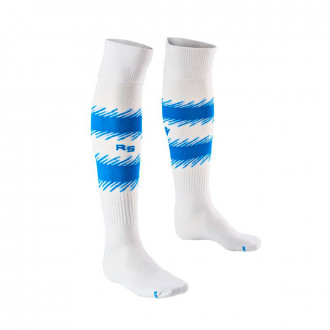 Football Socks Macron Kids Real Sociedad 2019-2020 Home White-Blue