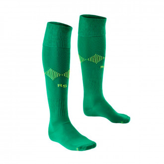Football Socks Macron Real Sociedad 2019-2020 Away Green