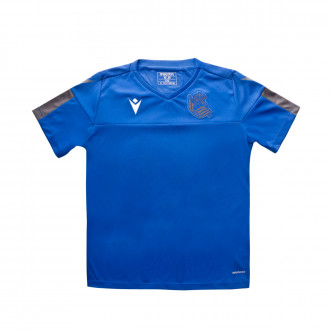 Playera Macron Real Sociedad Training 2019-2020 Niño Blue