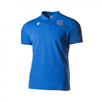 Polo shirt Macron Real Sociedad Paseo 2019-2020 Blue