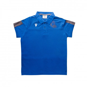Polo shirt Macron Kids Real Sociedad 2019-2020 Street Blue