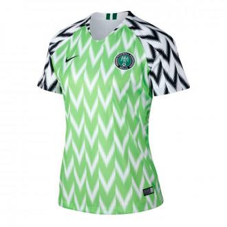 Jersey  Nike Nigeria Stadium Primera Equipación 2018-2019 Mujer White-Green-Black