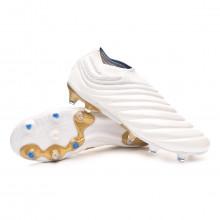 Bota Copa 19+ FG White-Gold metallic-Football blue