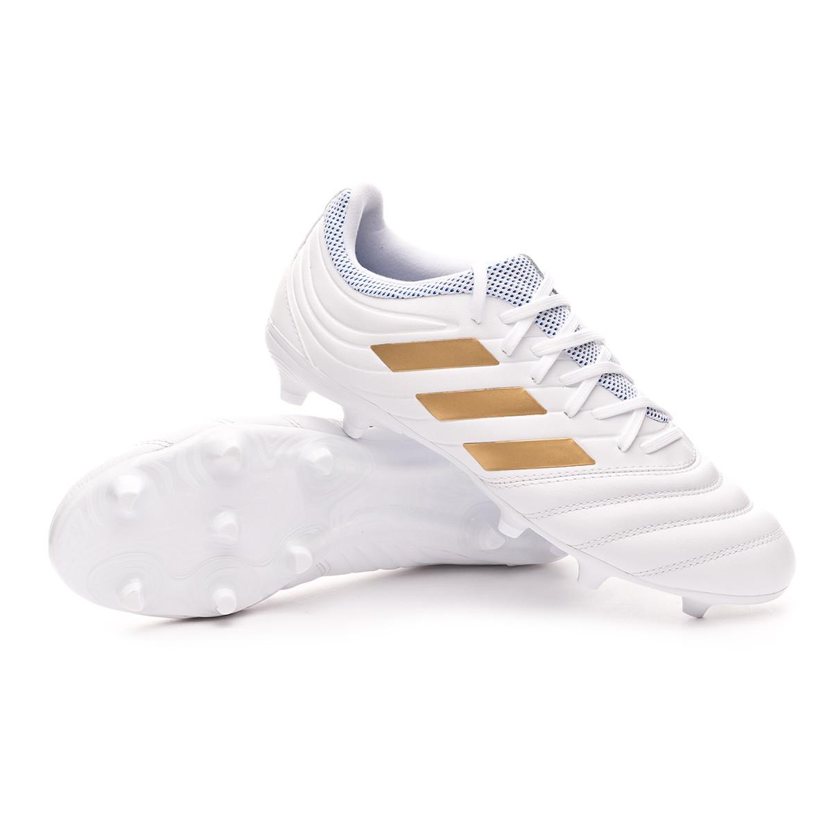 Scarpe adidas Copa 19.3 FG White Gold metallic Football blue