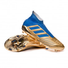 Zapatos de fútbol Predator 19+ FG Gold metallic-Football blue-White