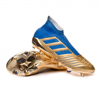Predator 19+ FG Gold metallic-Football blue-White