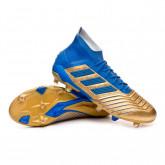 Bota Predator 19.1 FG Gold metallic-Football blue-White