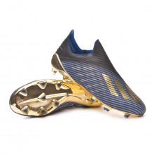 Bota X 19+ FG Core black-Gold metallic-Football blue