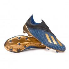 Football Boots X 19.1 FG Core black-Gold metallic-Football blue
