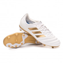 Bota Copa 19.1 FG Niño White-Gold metallic-Football blue
