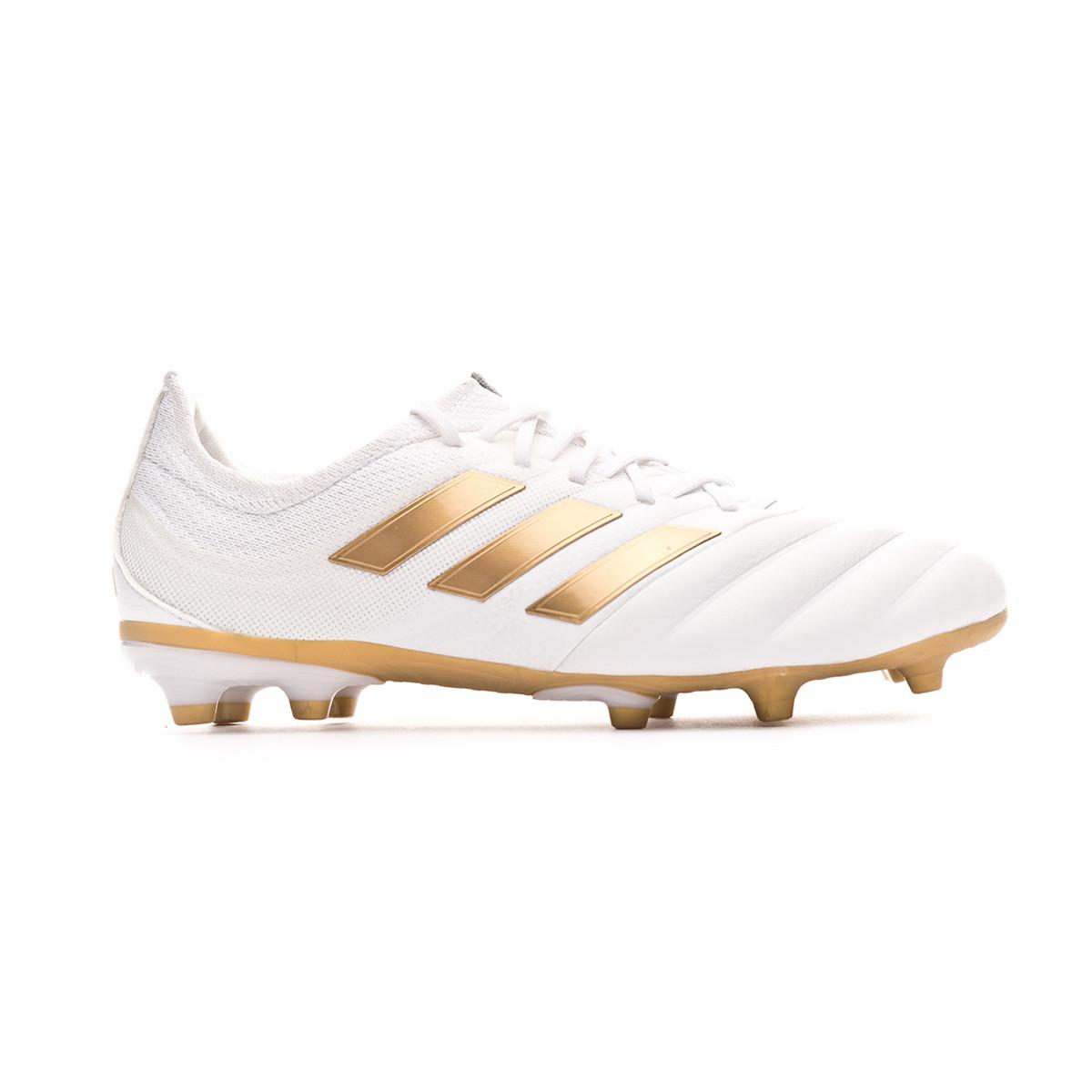 Football Boots Adidas Copa 19 1 Fg Nino White Gold Metallic Football Blue Football Store Futbol Emotion