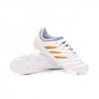 Copa 19.3 FG Niño White-Gold metallic-Football blue