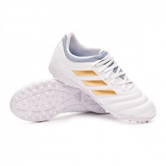 Copa 19.3 Turf Niño White-Gold metallic-Football blue