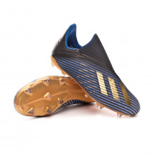 Chaussure de foot X 19+ FG Enfant Core black-Gold metallic-Football blue