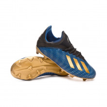 Football Boots X 19.1 FG Niño Core black-Gold metallic-Football blue