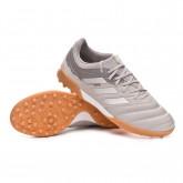 Chaussure de foot Copa 20.3 Turf Grey two-Silver metallic-Solar yellow