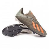 Chaussure de foot X 19.2 FG Legacy green-Solar orange-Chalk white