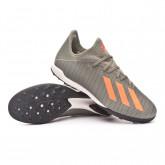 Football Boots X 19.3 Turf Legacy green-Solar orange-Chalk white