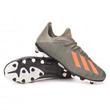 Football Boots X 19.3 MG Legacy green-Solar orange-Chalk white