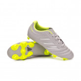 Football Boots Copa 20.4 FG Niño Grey two-Matte silver-Solar yellow