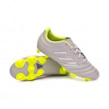Football Boots Copa 20.4 FG Niño Grey two-Matte silver-Solar yellow