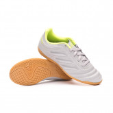 Sapatilha de Futsal Copa 20.4 IN Niño Grey two-Matte silver-Solar yellow