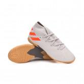 Sapatilha de Futsal Nemeziz 19.3 IN Niño Grey two-Solar orange-Chalk white