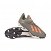 Chaussure de foot X 19.3 FG Niño Legacy green-Solar orange-Chalk white
