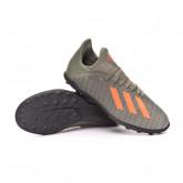 Chaussure de foot X 19.3 Turf Niño Legacy green-Solar orange-Chalk white