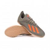Chaussure de futsal X 19.3 IN Niño Legacy green-Solar orange-Chalk white