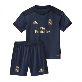 Conjunto adidas Real Madrid Segunda Equipación 2019-2020 Niño Night indigo