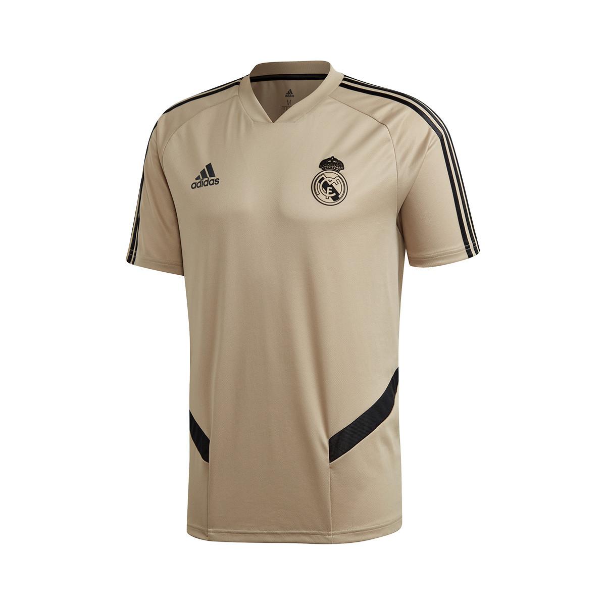 Jersey Adidas Real Madrid Training 2019 2020 Raw Gold Black Football Store Futbol Emotion