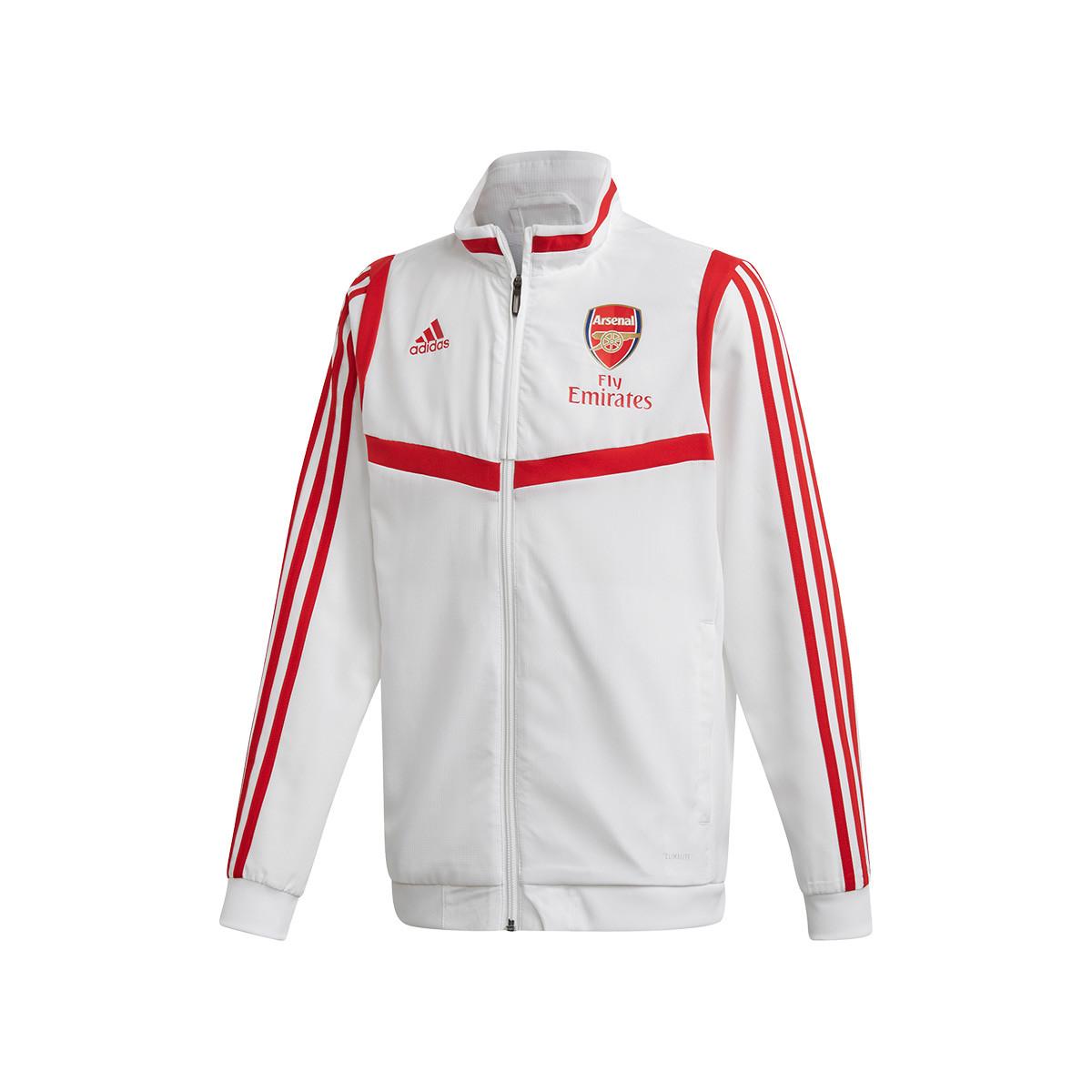 Reducción de precios SIDA tinta  Jacket adidas Arsenal FC Prematch 2019-2020 Niño White-Scarlet - Football  store Fútbol Emotion