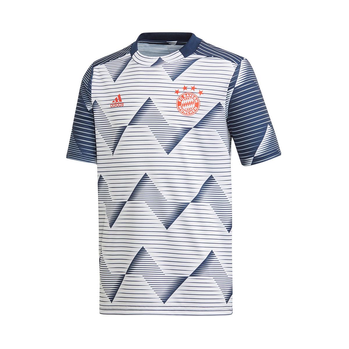 Jersey adidas Bayern Munich FC Preshi 2019-2020 Bambino White ...