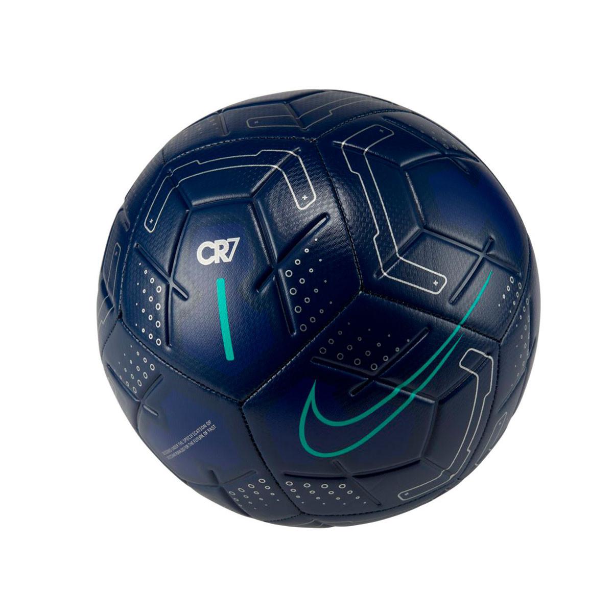 Hacer un nombre Oh Calibre  Ball Nike Strike CR7 2019-2020 Blue void-Silver-Aurora green - Football  store Fútbol Emotion